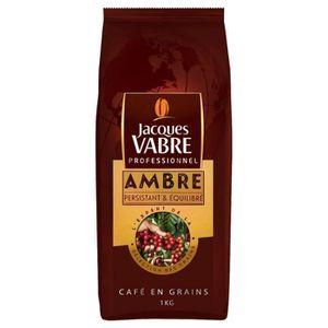 CAFÉ cafe en grain ambre 1 kg jacques vabre neuf