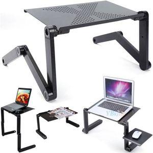 SUPPORT PC ET TABLETTE 360°table informatique d'ordinateur Réglable Porta