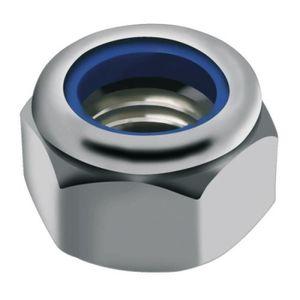 PARCO Lot de 50 /écrous de s/écurit/é M10 DIN 985 ISO 10511 acier inoxydable A2