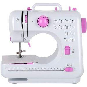 Machine /à coudre portable Petites mini machines /à coudre /électriques portables avec p/édale et 12 points int/égr/és Machine /à coudre domestique pour d/ébutants Adultes Enfants Rose
