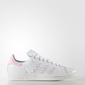 34b32d50492b7 ADIDAS ORIGINALS Baskets Stan Smith Femme Blanc et rose - Achat ...
