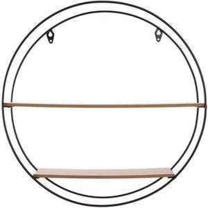 ETAGÈRE MURALE THE HOME DECO FACTORY Étagère ronde en bois et mét