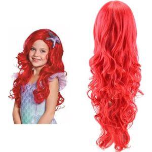 CHAPEAU - PERRUQUE Deguisement La Petite Sirène Princesse Ariel Fille