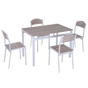 TABLE DE CUISINE  Table de salle à manger avec 4 chaises - ensemble