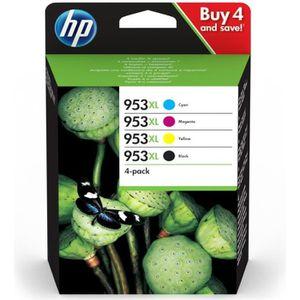 PACK CARTOUCHES HP 953XL pack de 4 cartouches noire/cyan/magenta/j
