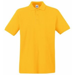 3-Pack Fruit of the Loom Homme coton manches longues Premium Pique Polo Shirt Neuf