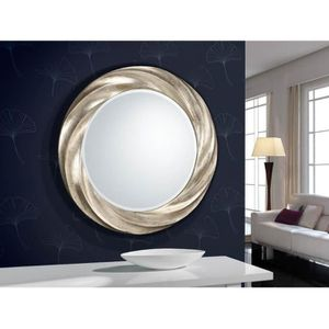 miroir design rond achat vente miroir design rond pas cher cdiscount. Black Bedroom Furniture Sets. Home Design Ideas
