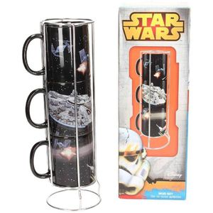 BOL - MUG - MAZAGRAN STAR WARS Mugs 3 pcs Death Star