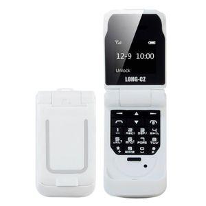 Téléphone portable LONG-CZ J9 0.66 Pouces Mini Flip Téléphone Portabl