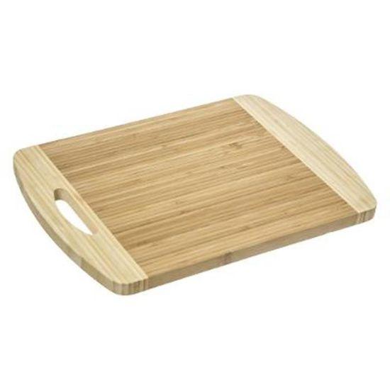 3 Compartiments /à L/égumes Rainures Int/égr/ées pour Les D/échets 43x32x2cm Design Rustique pour D/écoupage Intensif Bamwood Planche /à D/écouper en Bambou Bio Durable Mat/ériau Renouvelable