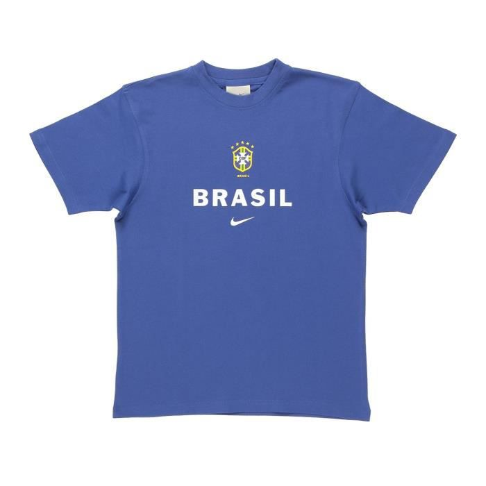 NIKE T-shirt Brasil Hero Junior - Bleu
