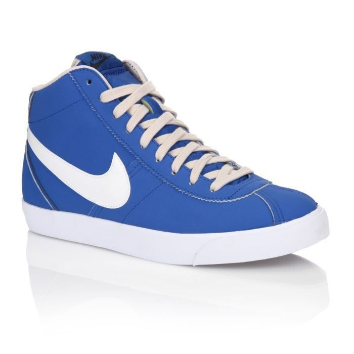 nike baskets cuir bruin mid homme homme bleu et blanc achat vente nike baskets bruin mid. Black Bedroom Furniture Sets. Home Design Ideas