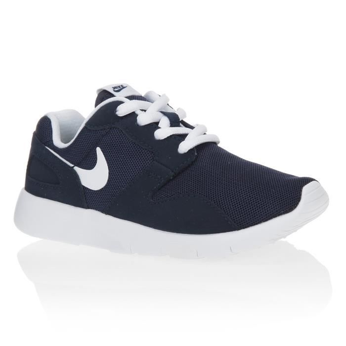 nike baskets kaishi ps chaussures enfant gar on marine et blanc achat vente basket soldes. Black Bedroom Furniture Sets. Home Design Ideas