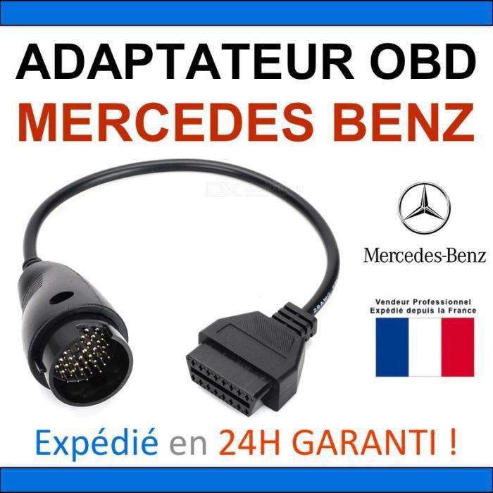 Adaptateur OBD2 vers MERCEDES BENZ 38 BROCHES - DIAG Auto - STAR MB COM AUTOCOM DELPHI