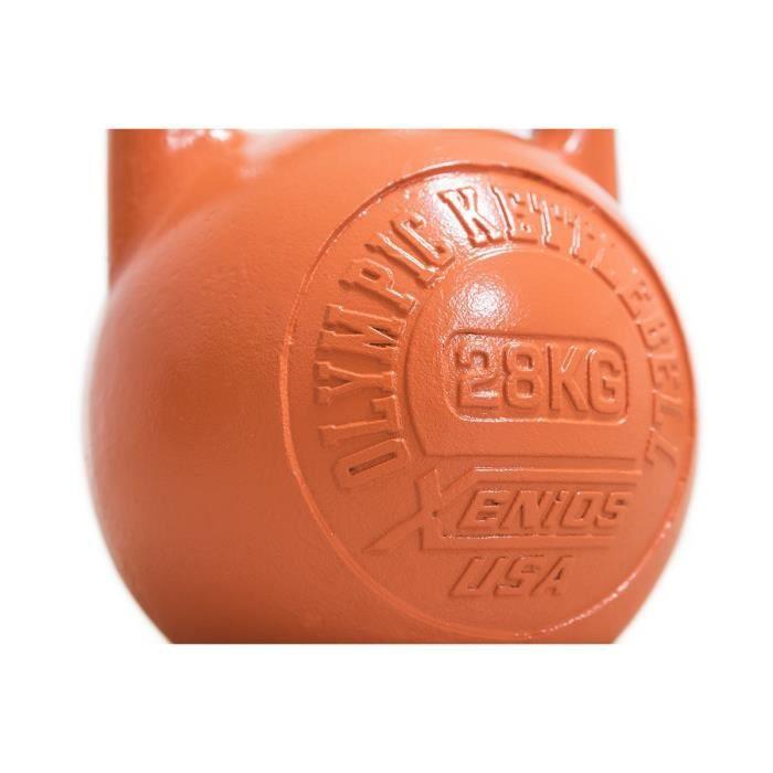 xenios États-Unis Acier girevoy Kettlebell Russe DE 28 kg-Orange, xssto kbl28