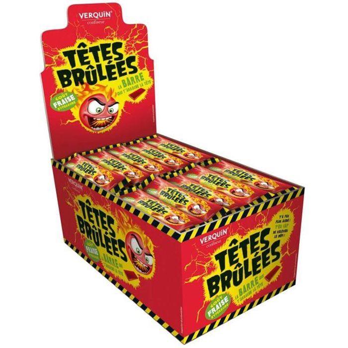 VERQUIN 150 Bonbons Sticks Têtes Brûlées Fraise