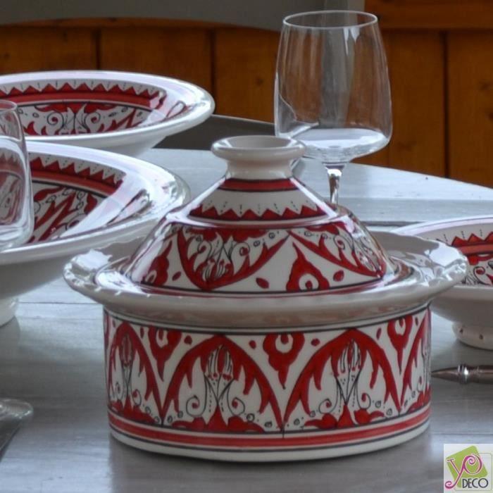 Cocotte Querouana Nejma rouge - D 20 cm