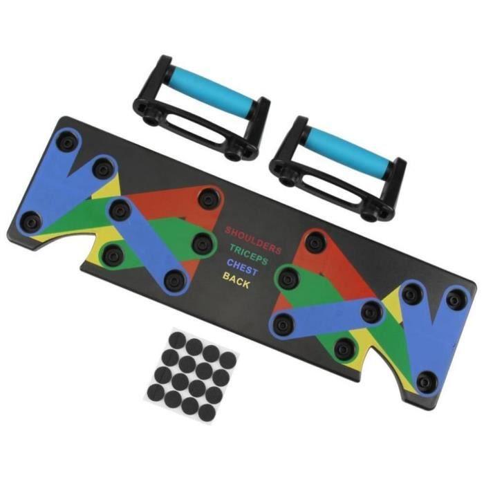 barre pour traction -9 types de pompes multifonctions pour corps de Fitness masculin Positions mu...- Modèle: Bleu - ZOAMFWZDA08252