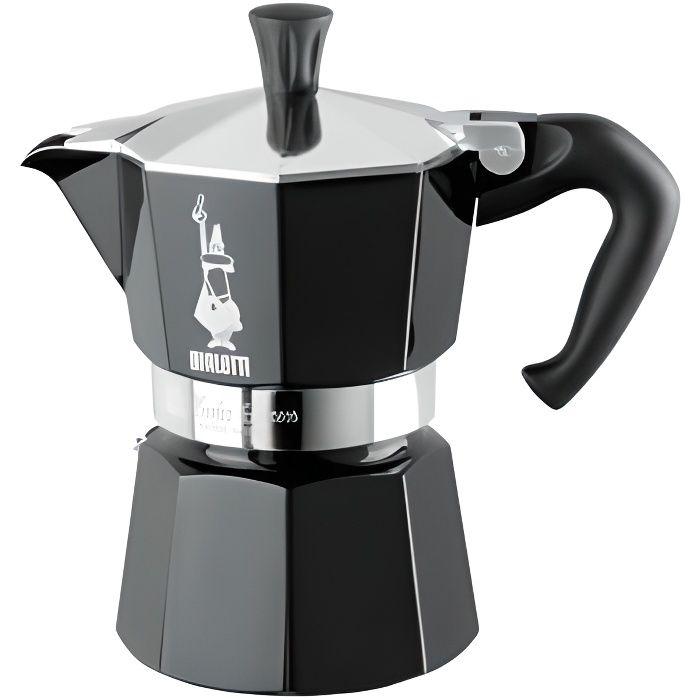 Bialetti Moka Exress, Autonome, Machine à café filtre manuelle, Café moulu, Noir