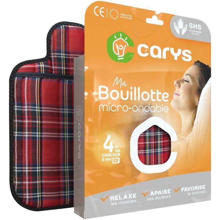 CARYS Bouillotte micro-ondes matelassée écossaise - Rouge