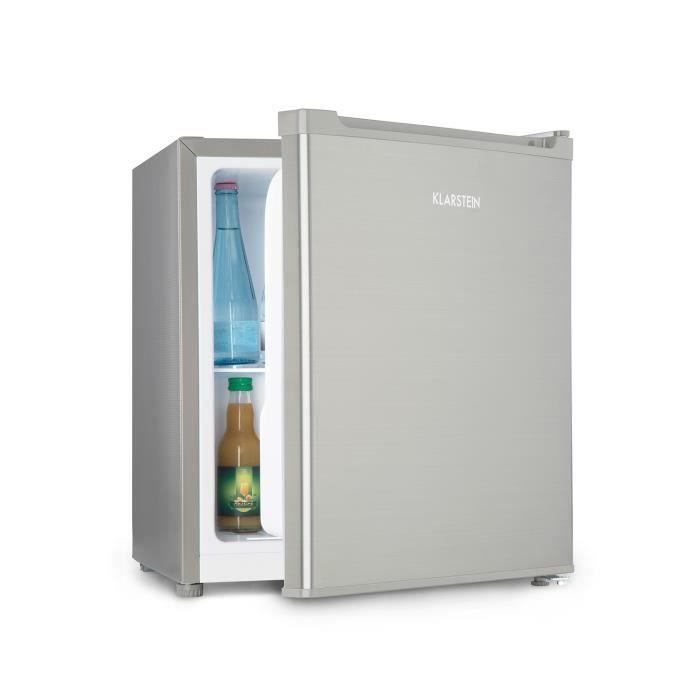 Klarstein Snoopy Eco Mini réfrigérateur à boissons avec compartiment congélateur - Minibar 46 L - discret 41dB - classe A++ - gris