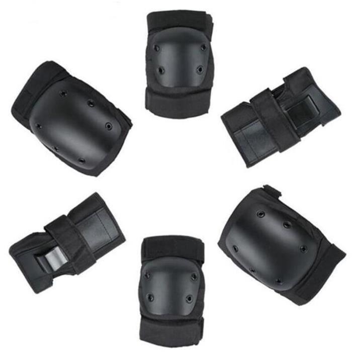 PROTEGE-CHEVILLES - CHEVILLERE,Skate casque coude poignet garde genouillère Joelheira à genoux protecteur - Type 6 pads-L