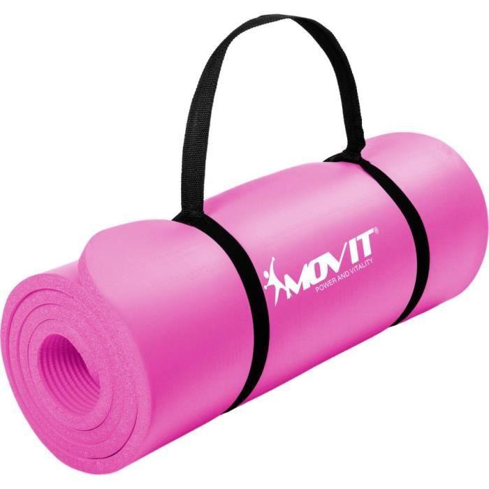 MOVIT Tapis de gymnastique 190cm x 60cm x 1,5cm, rose