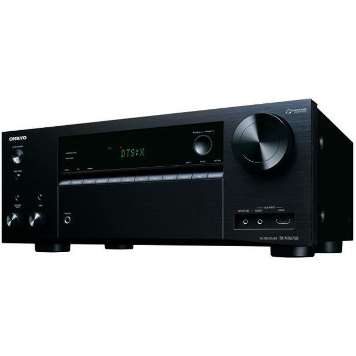 ONKYO TX-NR676E Ampli-tuner A/V réseau 7.2 canaux - Dolby Atmos - Noir