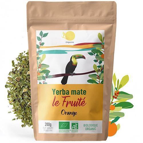 YERBA maté orange ~ BIO 200g Grade Supérieur