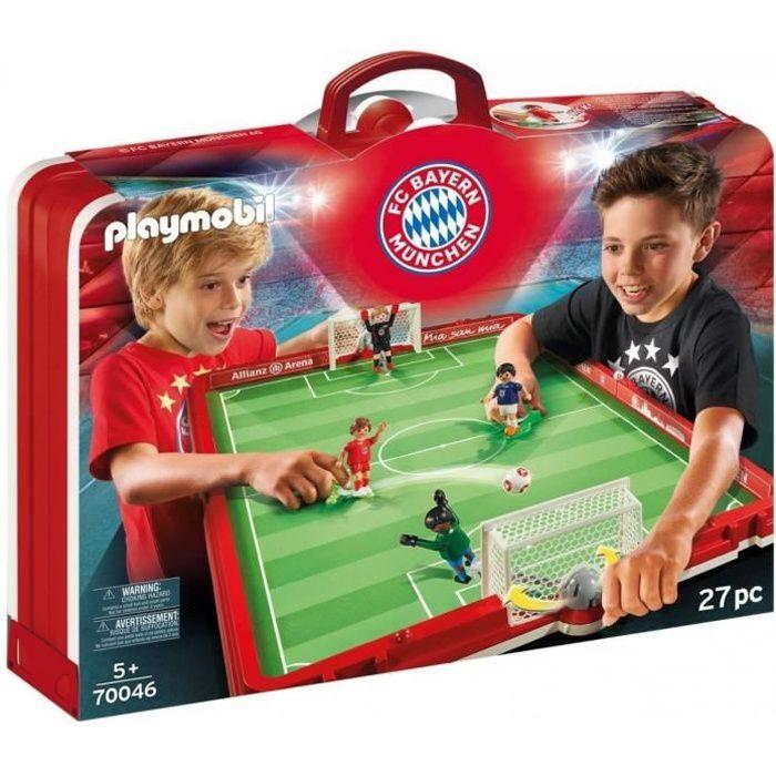 Playmobil 70046 Terrain de football transportable FC Bayern Munich - Stade Foot - Edition Limite - Jouet Garcon