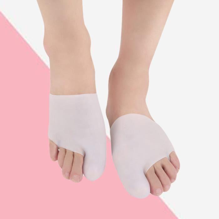 1 paire d'attelle de gros orteil confortable, flexible, non toxique, porecteur d'orteil souple pour les ampoules d'ongles