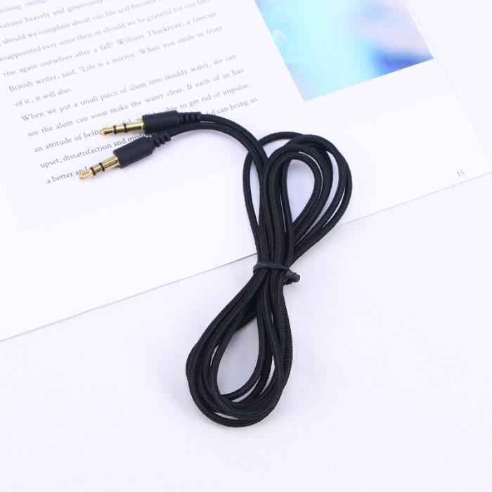 1,5 mètres 3,5 mm mâle à câble audio stéréo casque adaptateur de d'extension pour tablettes CABLE - CONNECTIQUE TV - VIDEO - SON