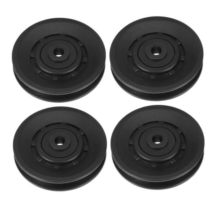 4pcs roue de poulie roulement universel PA6 pièces de de en nylon pour salle de fitness BRACELET DE FORCE