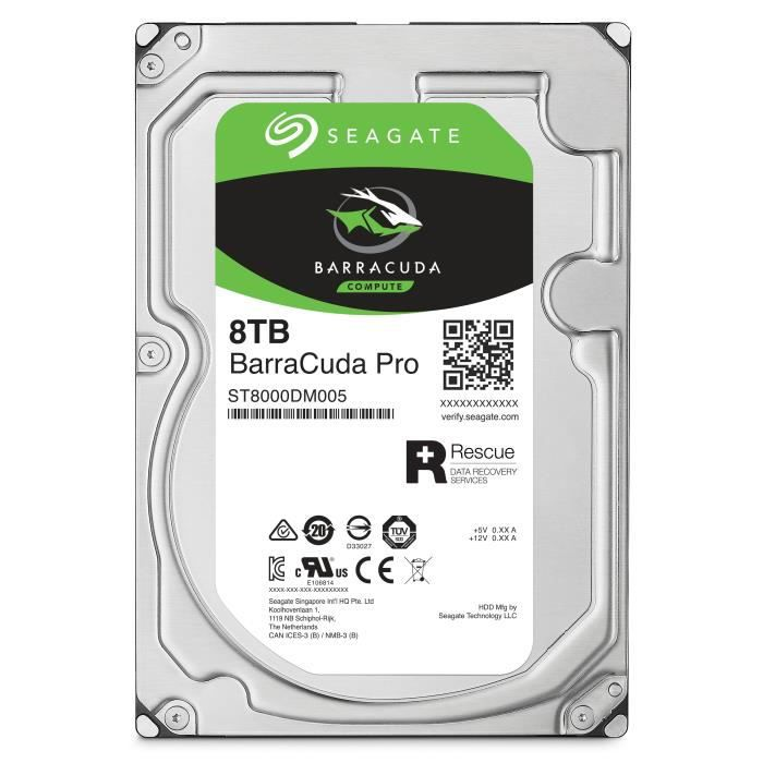 SEAGATE Disque dur BarraCuda Pro 8To - ST8000DM0004