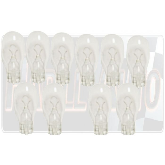 10 ampoules WEDGE 12V 18W T15 W2.1x9.5D