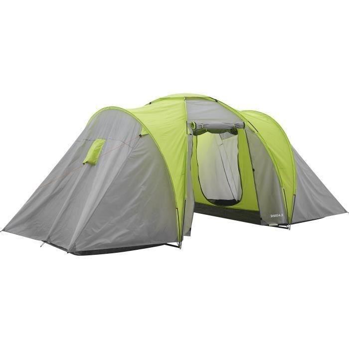 Tente de camping familiale 4 places SURPASS SURPTENT401 Vert et Gris