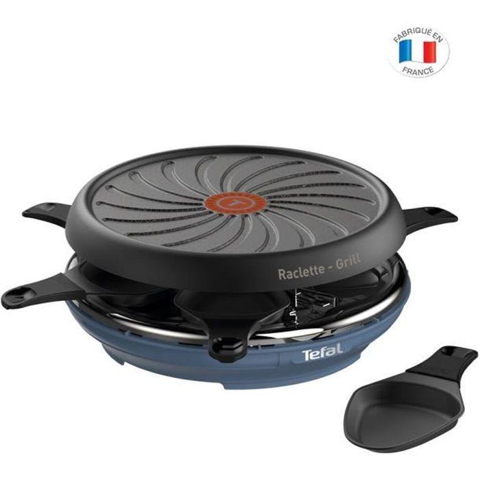 TEFAL RE12A401 Colormania appareil à raclette multifonctions 6 personnes bleu acier