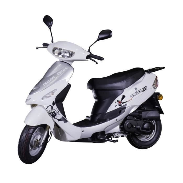 Scooter 50cc 4 temps à injection TAOTAO - - CY50T-6 - SIV inclus (carte grise) - Coloris blanc et gris - EURO4