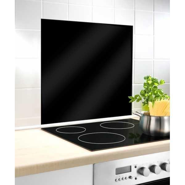 Crédence en Verre Trempé Noir