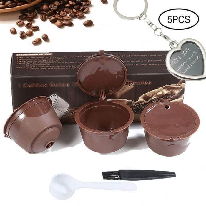 MOTH24347-Capsules de Café Rechargeables,3 Pcs Capsule Filtre de Café Réutilisables Compatible Nescafe Dolce Gusto L62557