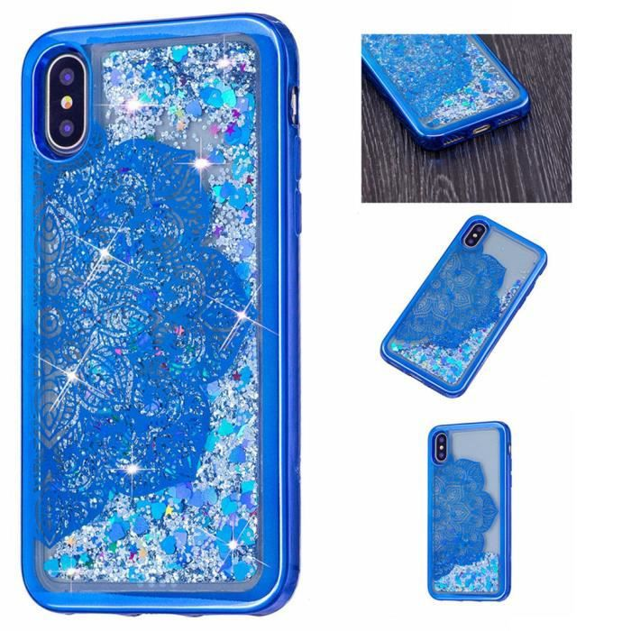 coque iphone bleu x
