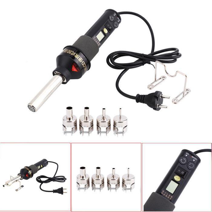 Mini pistolet /à air chaud portable de 300 W pour gaufrer des films r/étr/écissants Couleur s/écher /à l/électronique DIY