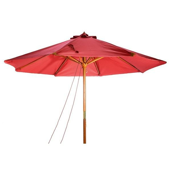 parasol en bois luxe 3x4m bordeaux achat vente parasol. Black Bedroom Furniture Sets. Home Design Ideas