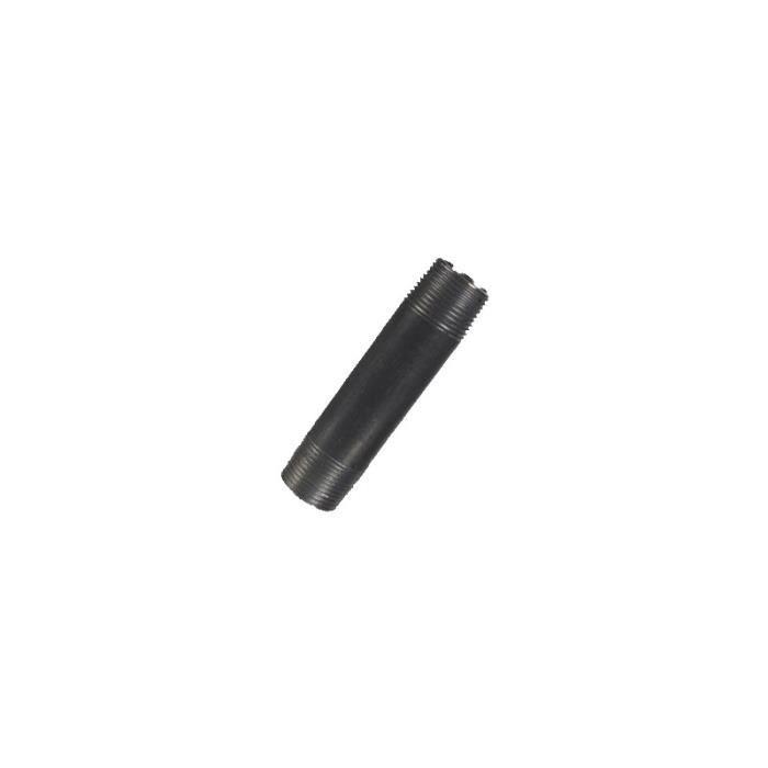 MANCHON - RACCORD - COUDE Mamelon acier noir L 150 mm Raccorderie Metalliche