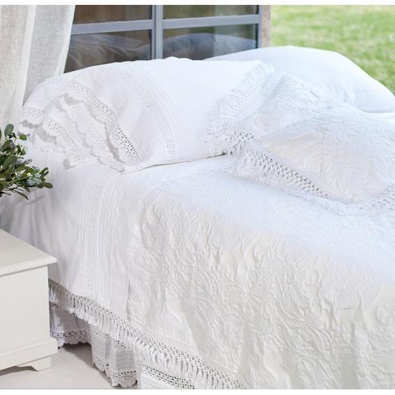 Blanc Mariclo - Couvre lit Blanc 'Ana' 26