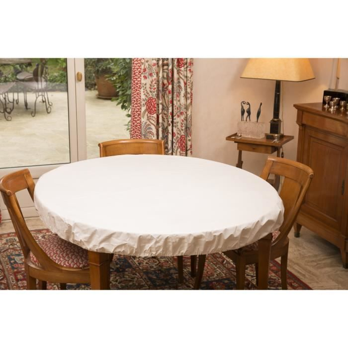 Nappe bulgomme ronde 180 - Protege table rectangulaire ...