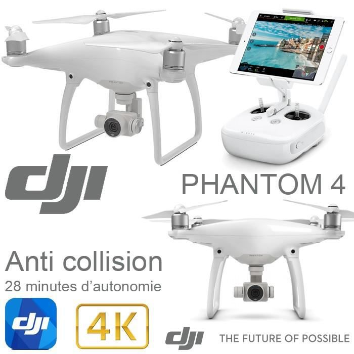 dji phantom 4 drone avec camera 4k et nacelle 3 axes module anti collision retour vid o hd. Black Bedroom Furniture Sets. Home Design Ideas