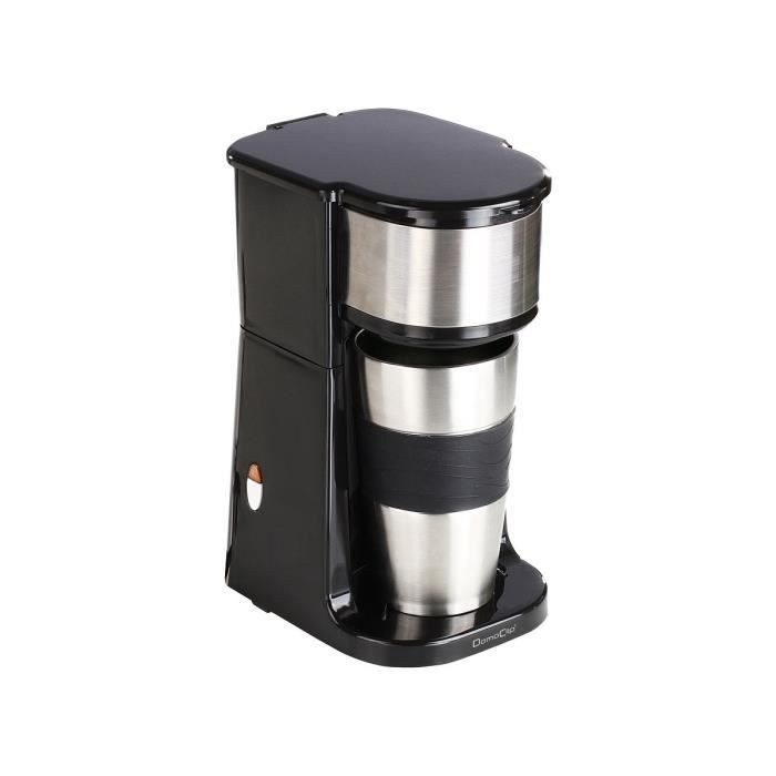 domoclip dod118n cafeti re avec mug isotherme 750w 420 ml noir achat vente cafeti re. Black Bedroom Furniture Sets. Home Design Ideas
