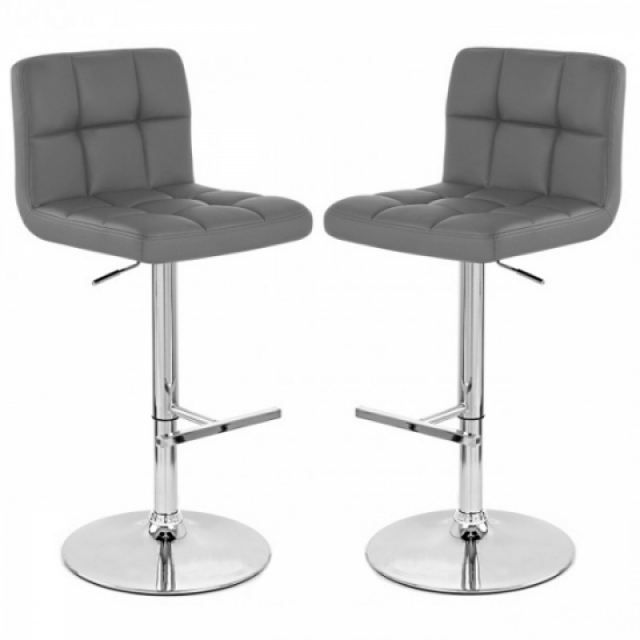 tabouret de bar gris x2 mustang achat vente tabouret. Black Bedroom Furniture Sets. Home Design Ideas