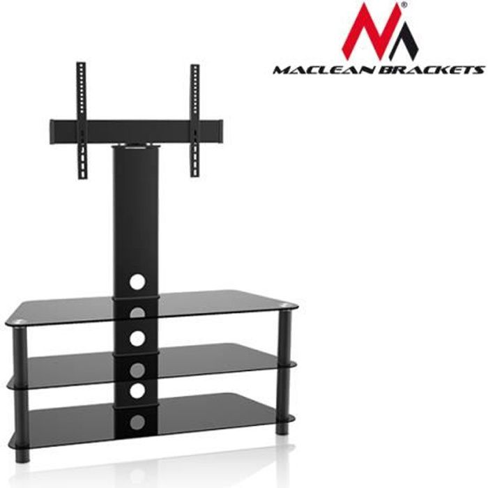 Table Tv En Verre.Table Tv De Verre Avec Support De Tv Max 55 40kg Max Vesa 600x400 Maclean Mc 641